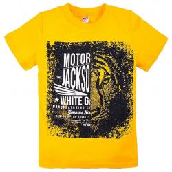 """20-103106 """"Motor"""" Футболка, 8-12 лет, желтый"""