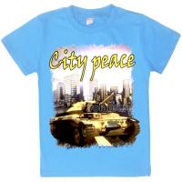 "20-103118 ""City Peace"" Футболка, 8-12 лет, голубой"