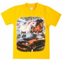 """20-103120 """"Horse"""" Футболка, 8-12 лет, желтый"""