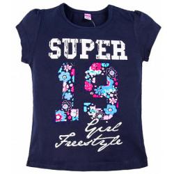 """20-103210 """"Super"""" Футболка, 8-12 лет, темная ночь"""