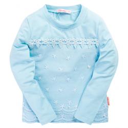 20-106403K Блузка школьная с кружевом, 6-10 лет