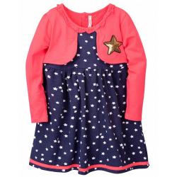 20-112502 Платье для девочки, 2-6 лет, малиновый
