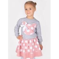 """20-114102 """"Микки"""" Костюм с юбкой для девочки, 2-5 лет, розовый"""