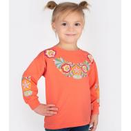 20-114201 Джемпер для девочки, 2-6 лет, оранжевый