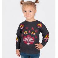 20-114204 Джемпер для девочки, 2-6 лет, т-серый