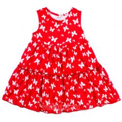 "20-115906 ""Butterfly on a Red"" Платье для девочки, 2-5 лет"