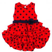 20-116701 Платье для девочки, 2-5 лет, красный