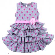020-116702 Платье для девочки, 2-5 лет, меланж