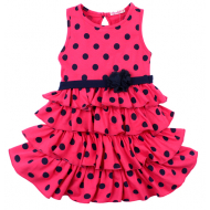 020-116704 Платье для девочки, 2-5 лет, малиновый