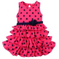 20-116704 Платье для девочки, 2-5 лет, малиновый