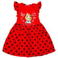 20-116801 Платье для девочки, 3-7 лет, красный