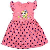 20-116803 Платье для девочки, 3-7 лет, розовый