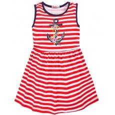 """20-116904 """"Морское"""" Платье для девочки, 2-5 лет, красный"""