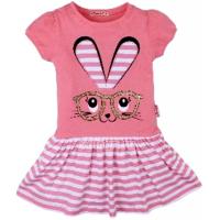 20-117001 Платье для девочки, 3-7 лет, розовый