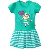 20-117002 Платье для девочки, 3-7 лет, ментоловый