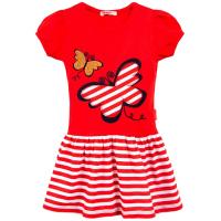 20-117003 Платье для девочки, 3-7 лет, красный