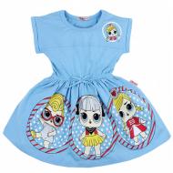 20-11711 Платье для девочки, 3-7 лет, бирюзовый - поставлено