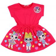20-11714 Платье для девочки, 3-7 лет, коралловый - поставлено