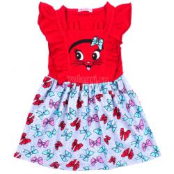 20-117803 Платье для девочки, 3-7 лет, красный