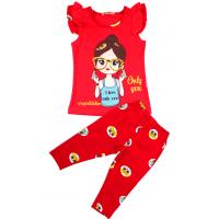 20-118007 Комплект с бриджами, 2-6 лет, красный