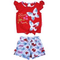 20-118505 Комплект для девочки, 2-5 лет, красный