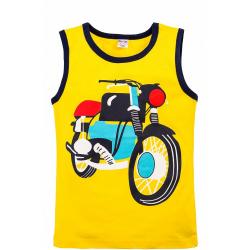 """20-110201 """"Moto"""" Майка для мальчика, 3-7 лет, желтый"""