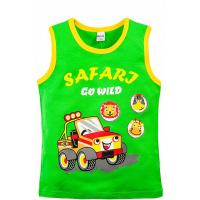 20-120204 Майка для мальчика, 3-7 лет, зеленый