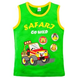 "20-120204 ""Safari"" Майка для мальчика, 3-7 лет, зеленый"