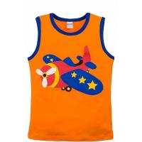 """20-120205 """"Fly"""" Майка для мальчика, 3-7 лет, оранжевый"""