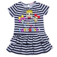 "20-120301 ""L.O.L."" Платье для девочки, 2-6 лет, т-синий"