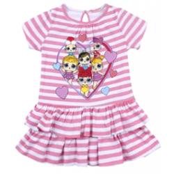"""20-120303 """"L.O.L."""" Платье для девочки, 2-6 лет, розовый"""