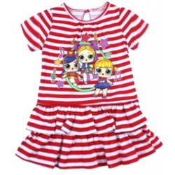 """20-120304 """"L.O.L."""" Платье для девочки, 2-6 лет, красный"""