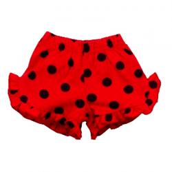 """20-121501 """"Горошек"""" Шорты для девочки, 2-5 лет, красный"""