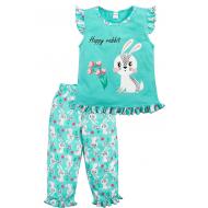 020-12161 Пижама для девочки, 3-7 лет, ментоловый