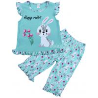 20-12161 Пижама для девочки, 3-7 лет, ментоловый