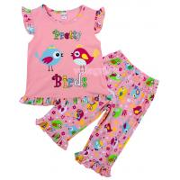 20-12162 Пижама для девочки, 3-7 лет, персиковый