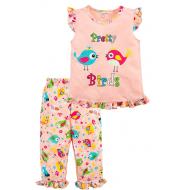 020-12162 Пижама для девочки, 3-7 лет, коралловый