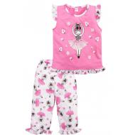020-12163 Пижама для девочки, 3-7 лет, розовый