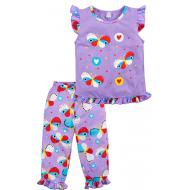 020-12164 Пижама для девочки, 3-7 лет, лиловый
