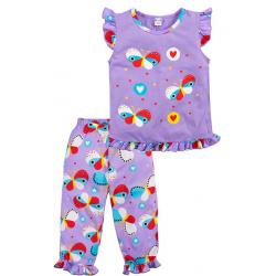 20-12164 Пижама для девочки, 3-7 лет, лиловый