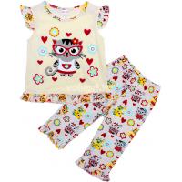 20-12165 Пижама для девочки, 3-7 лет, бежевый