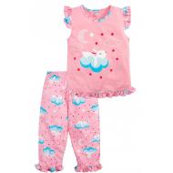 020-12166 Пижама для девочки, 3-7 лет, розовый
