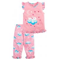 20-12166 Пижама для девочки, 3-7 лет, розовый