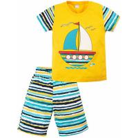 """20-121701 """"Кораблик"""" Пижама летняя, 3-7 лет, желтый"""