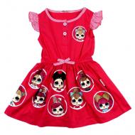 45-12474 Платье для девочки, 3-7 лет, розовый