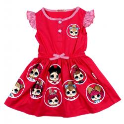 """20-124701 """"LOL"""" Платье для девочки, 3-7 лет, розовый"""