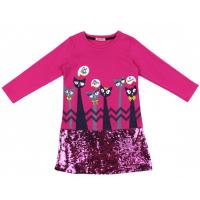 20-12695 Платье для девочки, фуллайкра, 5-8 лет, малиновый