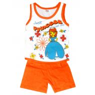 20-131731 Комплект для девочки майка-шорты, 1-4 года, оранжевый