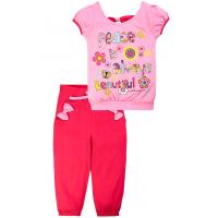 20-14602 Костюм с бриджами, 1-4 года, розовый