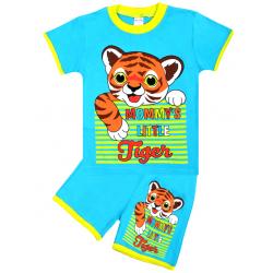 """20-20101 """"Tiger"""" Костюм для мальчика, 1-4 года, бирюзовый"""